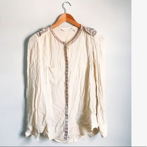 Isabel Marant Etoile Embroidered Button Down